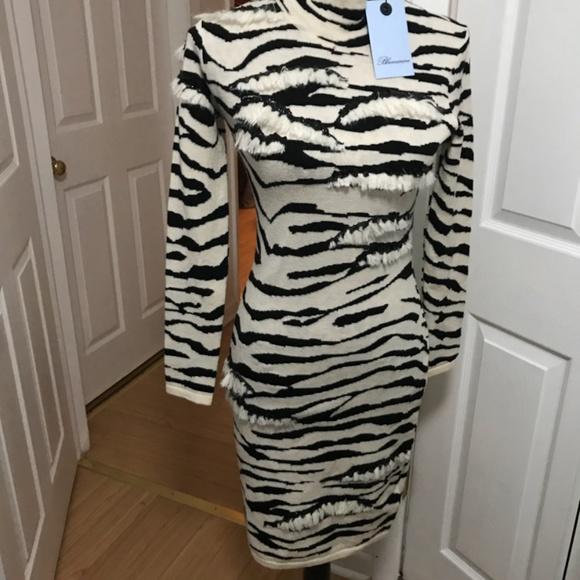 7f5808f528 Blumarine Zebra wool sweater dress in